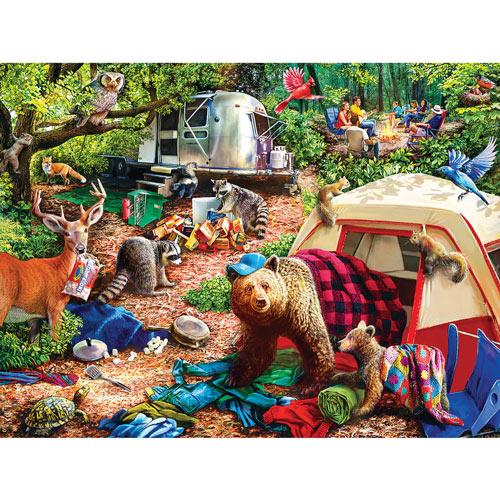 Campsite Trouble 300 large Piece Jigsaw Puzzle