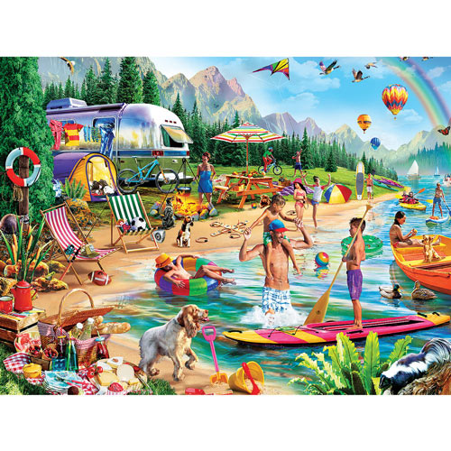 Day At The Lake 300 large Piece Jigsaw Puzzle