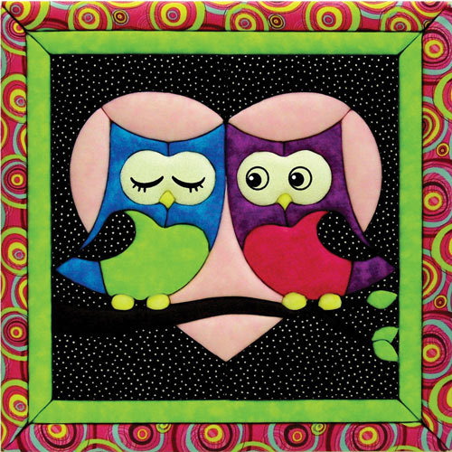 Love Owls Quilt Magic Kit with Frame