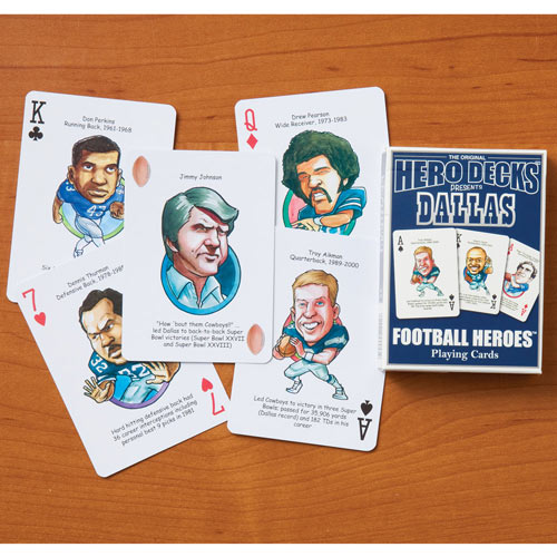 Dallas Cowboys Football Heroes Playing Cards