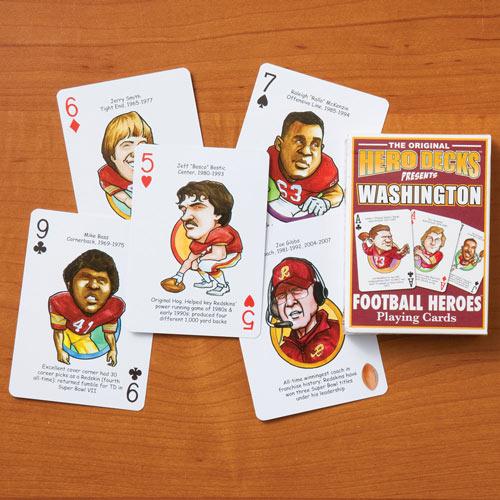 Washington Redskins - Football Heroes Playing Cards