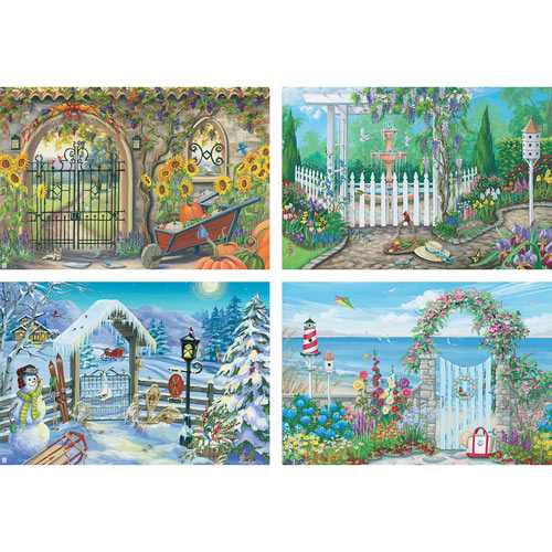 Set of 4: Joelle McIntyre 1000 Piece Jigsaw Puzzles