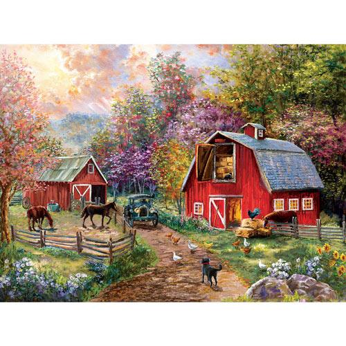 Barnyard Visit 300 Large Piece Jigsaw Puzzle