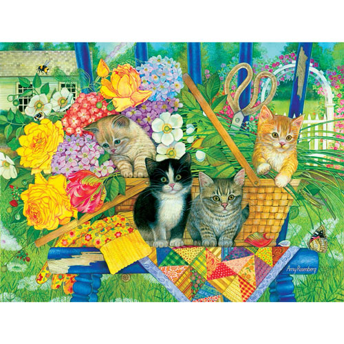 Bouquet Kittens 300 Large Piece Jigsaw Puzzle
