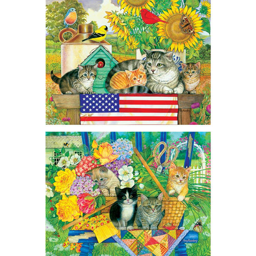 Set of 2: Kittens 300 Large Piece Jigsaw Puzzles
