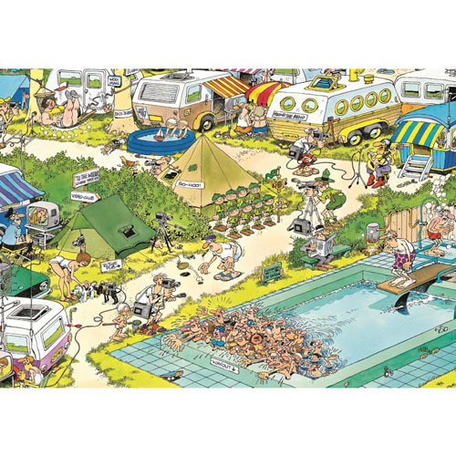 Camping Chaos 300 Large Piece Jigsaw Puzzle
