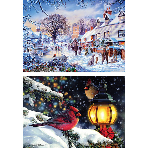 Set of 2: Winter Wonderland 1000 Piece Jigsaw Puzzles