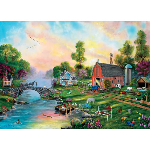 Bridge to the Farm 500 Piece Jigsaw Puzzle
