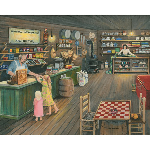 Buying Candy 300 Large Piece Jigsaw Puzzle