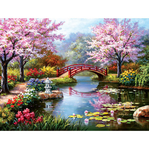 Japanese Garden in Bloom 300 Large Piece Jigsaw Puzzle