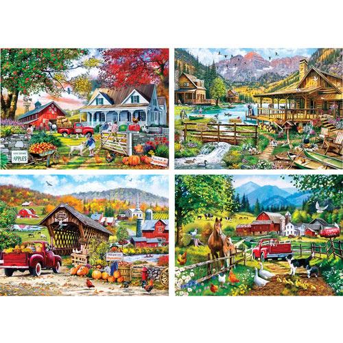 Set of 4: Richard MacNeil 1000 piece Jigsaw Puzzles