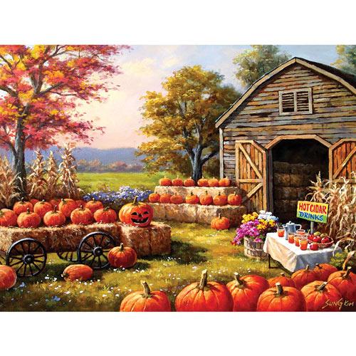 Pumpkins For Sale 300 Large Piece Jigsaw Puzzle