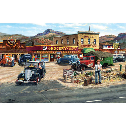 Memories of Route 66 300 Large Piece Jigsaw Puzzle