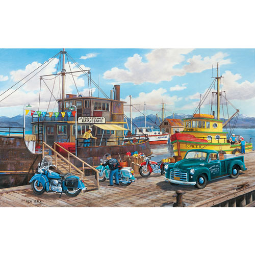 Homer Spit Harbor 300 Large Piece Jigsaw Puzzle