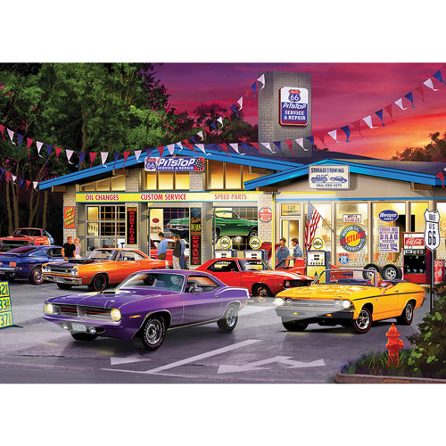 Route 66 Pitstop 1000 Piece Jigsaw Puzzle