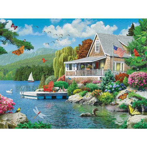 Lakeside Memories 300 Large Piece Jigsaw Puzzle
