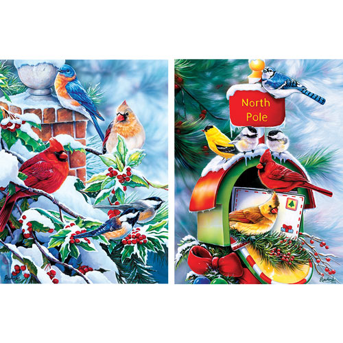 Set of 2: Jenny Newland 550 Piece Jigsaw Puzzles