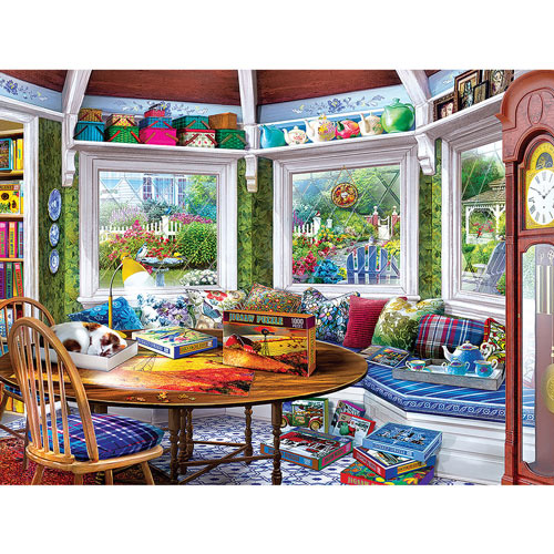 The Puzzler's Retreat 550 Piece Jigsaw Puzzle