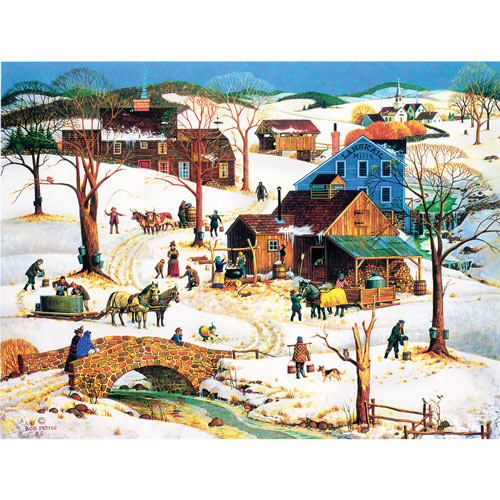 Maple Sugar Time 500 Piece Jigsaw Puzzle