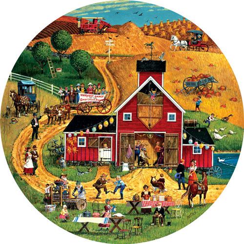 Harvest Dance 500 Piece Round Jigsaw Puzzle