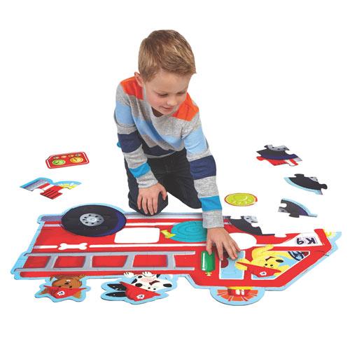 Fire Truck Pups Kids Floor Puzzle