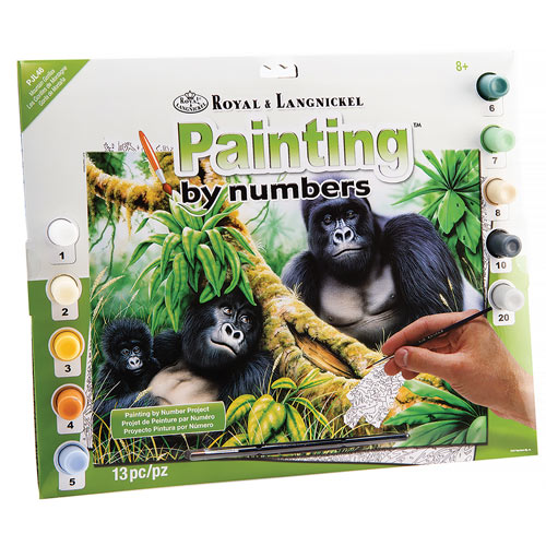 Paint By Number Kit - Mountain Gorillas