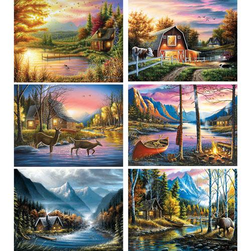 Set of 6: Chuck Black 300 Large Piece Jigsaw Puzzles