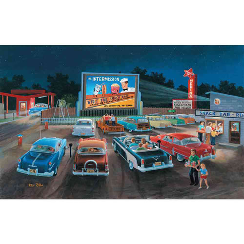 At the Movies 300 Large Piece Jigsaw Puzzle