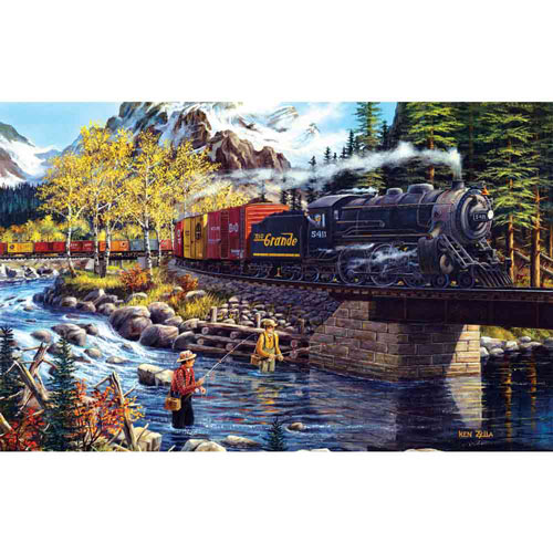 Cascade Run 550 Piece Jigsaw Puzzle