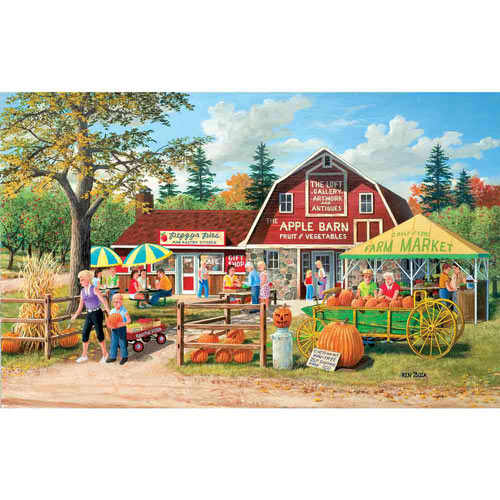 Harvest Market 550 Piece Jigsaw Puzzle