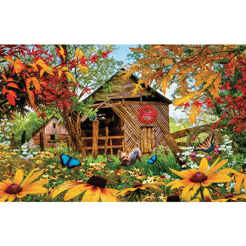 Autumn Red and Gold 1000 Piece Jigsaw Puzzle
