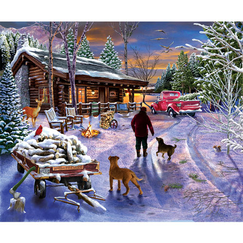 Winter Refuge 300 Large Piece Jigsaw Puzzle