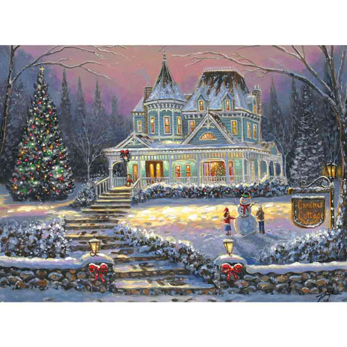 Christmas Cottage 300 Large Piece Jigsaw Puzzle