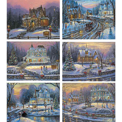 Set of 6: Robert Finale 300 Large Piece Jigsaw Puzzles