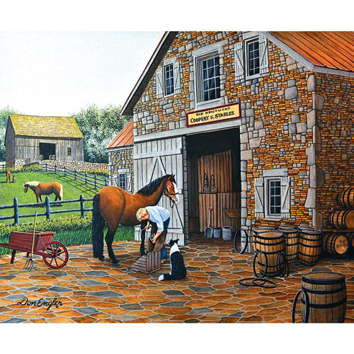 Coppery and Stables 1000 Piece Jigsaw Puzzle