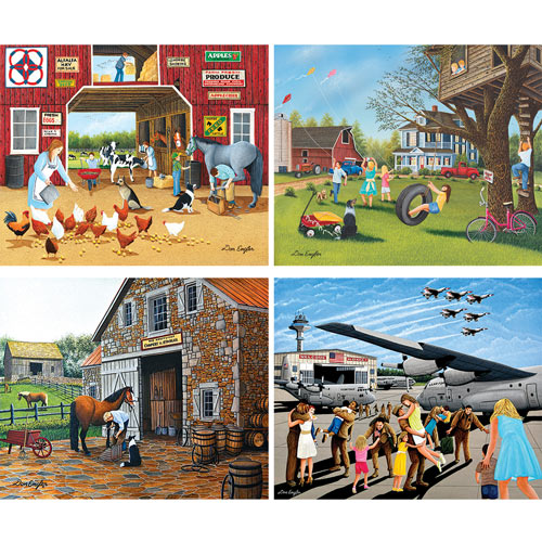 Set of 4: Don Engler 1000 Piece Jigsaw Puzzle