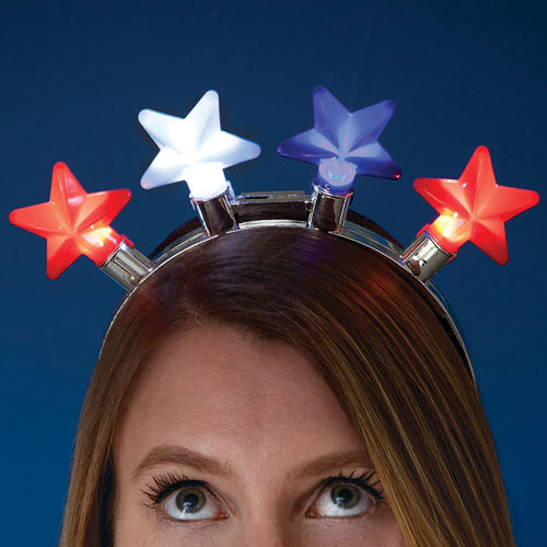Flashing Star Lights Headband