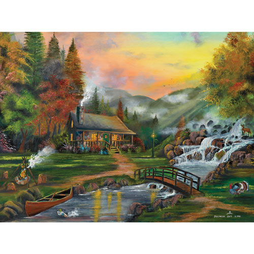 Smokey Mountain Majesty 300 Large Piece Jigsaw Puzzle