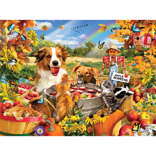 Bobbing For Apples 300 Large Piece Jigsaw Puzzle