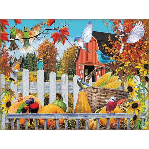 Gathering For Fall 300 Large Piece Jigsaw Puzzle