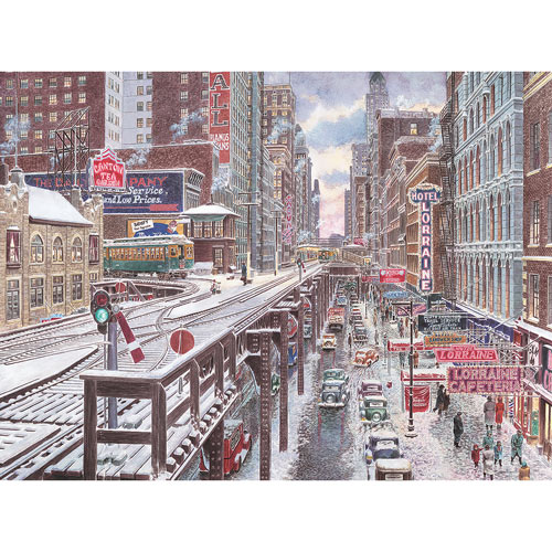 Chicago, The Loop 500 Piece Jigsaw Puzzle