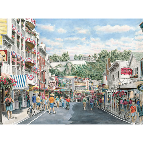 Main St. Mackinaw 1000 Piece Jigsaw Puzzle