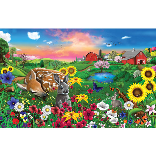 Pasture Buddies 100 Large Piece Jigsaw Puzzle