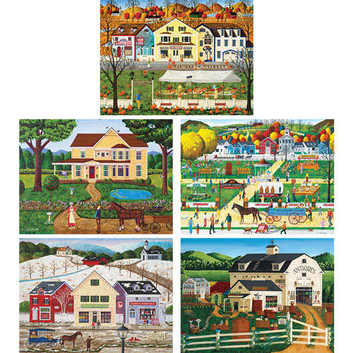 Set of 5: Art Poulin 1000 Piece Jigsaw Puzzles