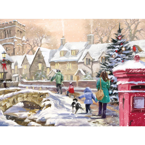 Snowy Village 1000 Piece Jigsaw Puzzle