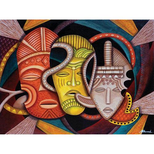 Society Masks 1000 Piece Jigsaw Puzzle
