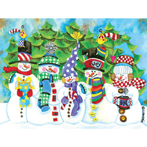 Snowperson Family 300 Large Piece Jigsaw Puzzle