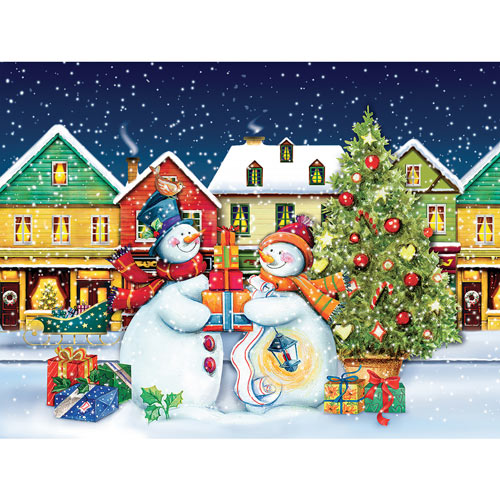 Snow Couple 550 Piece Jigsaw Puzzle