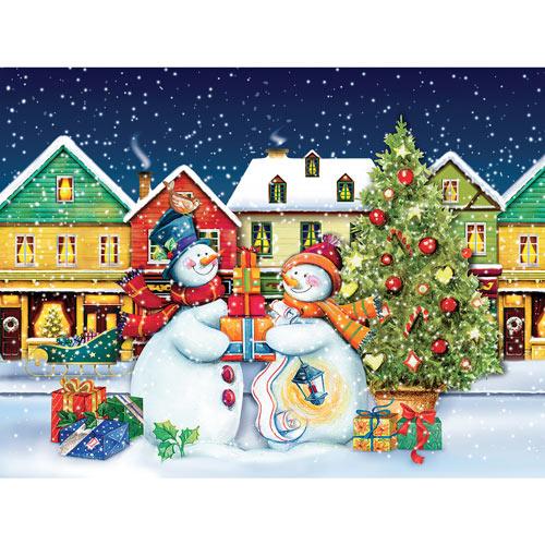 Snow Couple 550 Piece Jigsaw Puzzle