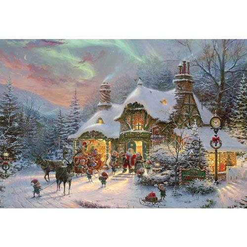 Santa's Night Before Christmas 2000 Piece Jigsaw Puzzle